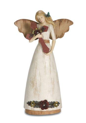 Pavilion Gift Company Simple Spirits 41001 Angel Figurine Holding Cross, 9-Inch, Faith
