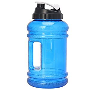 Kocome 2.2L Big BPA Free Sport Gym Training Drink Water Bottle Cap Kettle Workout (Blue)