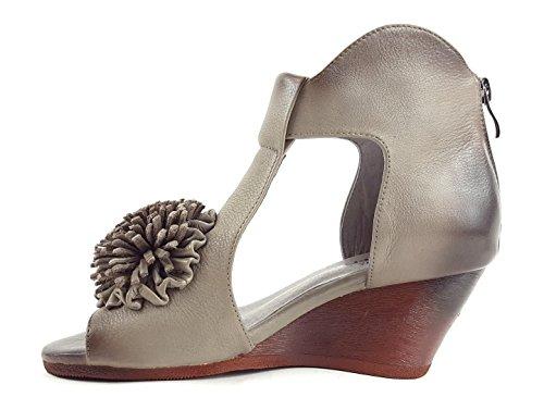 Laura Vita - Sandalias de vestir para mujer gris Gris- Grey/ Grau