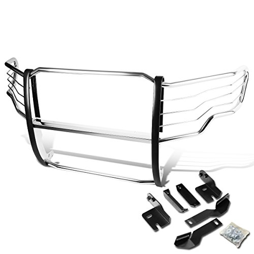 Brush Guard Brackets (Ford F150 Pickup Truck Front Bumper Protector Brush Grille Guard (Chrome))
