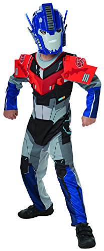 [Deluxe Optimus Prime TransformersTM Robots in Disguise - Kids Costume 7 - 8 years] (Deluxe Optimus Prime Kids Costumes)