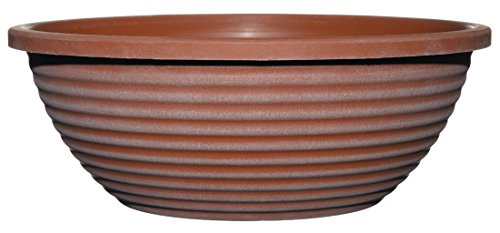 Classic Home and Garden Dorado Planter, 17-inch Large Bowl, Aged Terra Cotta