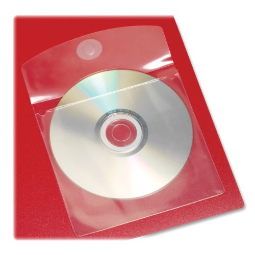 Cardinal HOLDit! Self-Adhesive CD or DVD Pockets, 5 x 5 Inches, Clear, 10 Pockets per Bag (21845) Self Adhesive Media