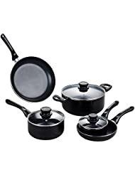 Cate-Maker 5-Piece Aluminum Cookware Sets Nonstick Coating (100% PTFE, PFOA and APEO Free) with Induction bottom...