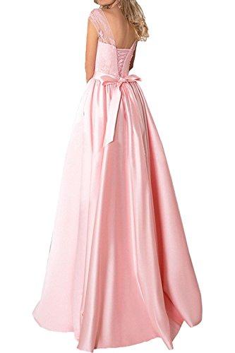 Satin Elegant Spitze Abschlussballkleider Braut Lang Marie Tinte Blau A La Rosa Abendkleider Promkleider Linie Rock qxH5w