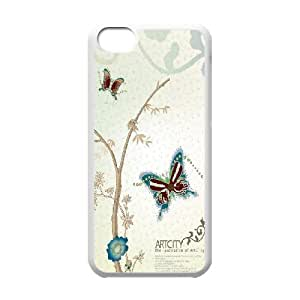 Beautiful Butterfly Image On Back Phone Case For iPhone 5C