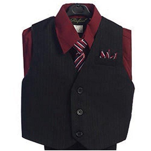 Angels Garment Burgundy 4 Piece Pin Striped Vest Set Boys Suit 16 from Angels Garment
