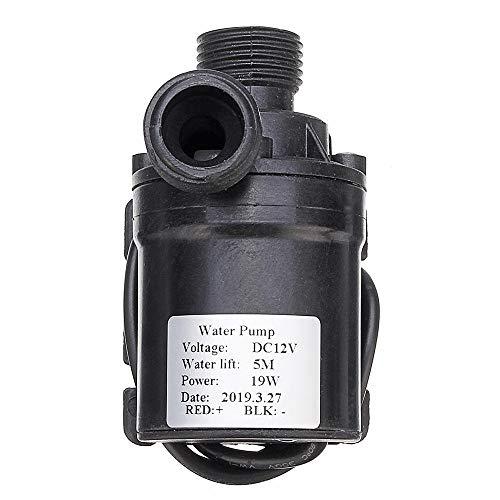HDHUA High-Pressure Pump 24V/12V Brushless DC Water Pump Booster Pump Solar Water Submersible Pump Circulation Pump Hot Water Pump for Circulating Silent Micro (Size : 12V)
