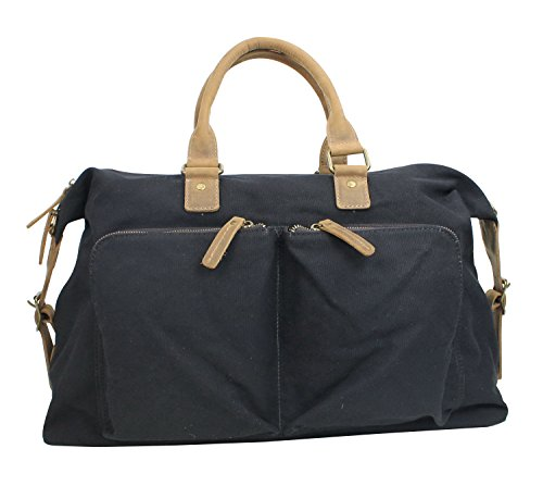 vagabond-traveler-classic-canvas-over-night-travel-bag-cd02-black