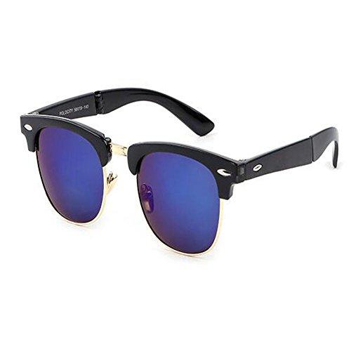 soleil Mode lunettes et Classique Hzjundasi Cadre Lunettes C3 Homme fatigue Plier Des Portable Femme de Charnière UV soleil pour Anti Anti Rtero de 4XdxqFx