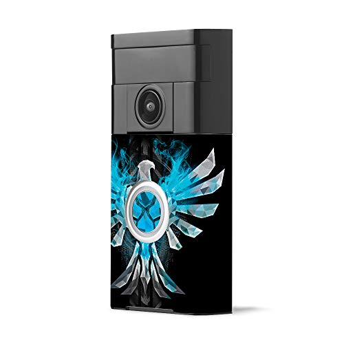 MightySkins Skin for Ring Video Doorbell - Blue Reborn | Protective, Durable, and Unique Vinyl Decal wrap Cover | Easy to Apply, Remove, and Change Styles | Made in The USA
