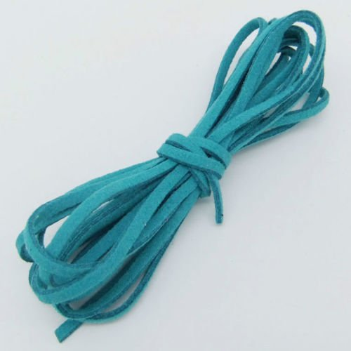(3 Meters Teal Soft Velvet Korea Frosting Cord Thread for Knitted Bracelet Necklace Good Crafted DIY Ideas)