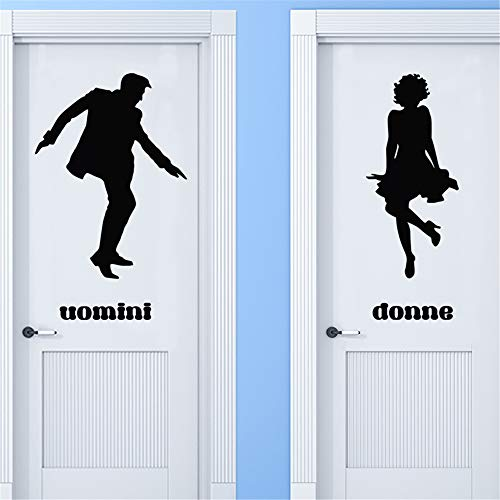 pecnbd Wall Sticker Family DIY Decor Art Stickers Home Decor Wall Art Uomini Donne En Dansant for Toilet Wc Wall Sticker]()