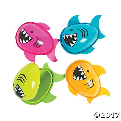 Shark Easter Eggs - 12 ct