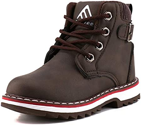 28066b9ef76 Femizee Boys Lace Up Work Boots Classic Waterproof Outdoor Hiking ...