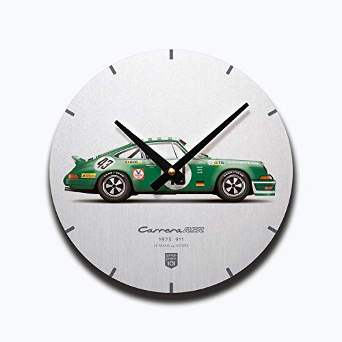 (GarageProject101 1973 Classic 911 Carrera RSR (Le Mans 24 Hours) Illustration Wall Clock)