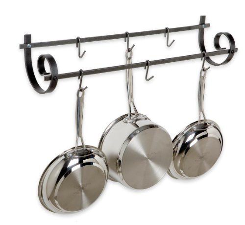 Enclume Decor Utensil Wall Pot Rack, Hammered Steel by Enclume
