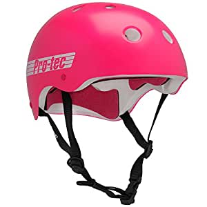 Pro-tec Classic Gloss Skateboard Helmet, Punk Pink, Large