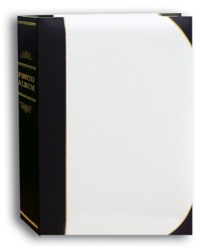 Albums Dvd Photo (Pioneer Photo Albums 50-Pocket White and Black Ledger Style Leatherette Cover Photo Album for 5 by 7-Inch Prints)
