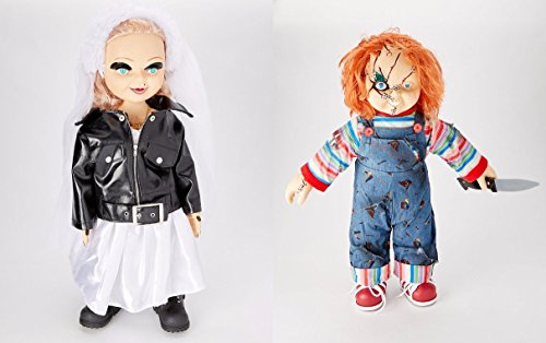 Bride of Chucky 26'' Chucky And Tiffany Plush Doll In Wedding Dress & Knife Set by Drakkonsong