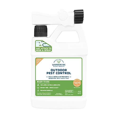 Wondercide EcoTreat Natural Ready-to-Use Outdoor Pest Control Spray - Mosquito and Insect Killer, Treatment, and Repellent - Safe for Pets, Plants, Kids - 32 oz (Best Time To Spray For Mosquitoes)