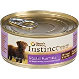 Nature's Variety Instinct Grain-Free Rabbit Canned Dog Food, 5.5 oz., Case of 12