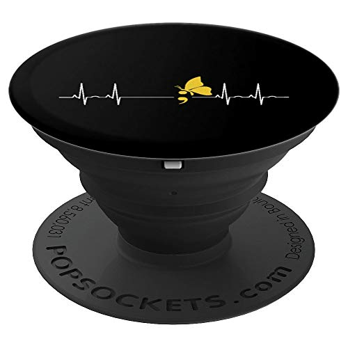 (Semicolon Heartbeat Suicide Depression Prevention Gift - PopSockets Grip and Stand for Phones and Tablets)