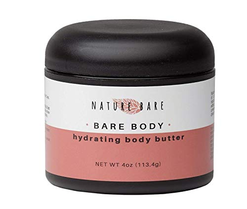 Nature Bare Body Care - Shea Hydrating Body Butter - Body Lotion Made with Organic, Natural and Vegan Ingredients - Moisturize, Sooth and Hydrate -4 ounce jar ()