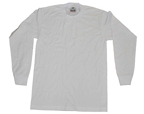 - Pro Club Men's Heavyweight Cotton Long Sleeve T-Shirt 3xlarge Tall (White)