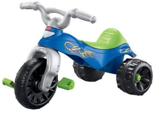 41zsjjEOnxL - Fisher-Price Kawasaki Tough Trike, Blue/Green