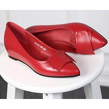 RTRY La Mujer Sneakers Confort Pu Primavera Confort Informal Almendra Plana Negro Rubí US4-4.5 / EU34 / UK2-2.5 / CN33