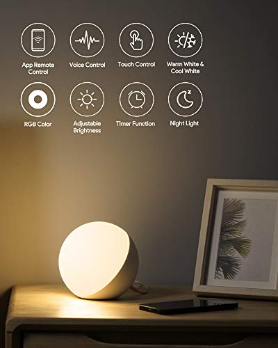 Lighting On-Camera Video Lights AUKEY Smart Table Lamp Works with ...