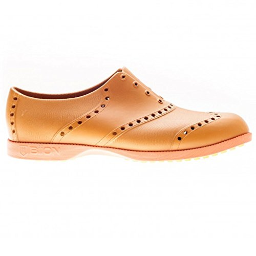 - Biion Oxford Bright Unisex Golf Shoes - Leather/Orange - Men's (4(W6))