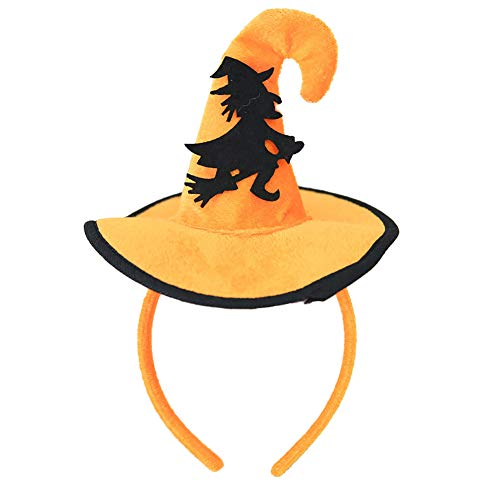 Spiral Witch Hat Pink - lightclub Halloween Decoration Witch Pumpkin Bat Spider Headband Kids Hairband Party Hat Witch