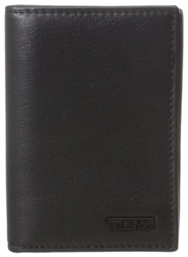 (Tumi Men's Delta Gusseted RFID Blocking Card Case ID, Black, One Size)