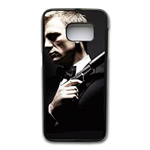 Generic Fashion Hard Back Case Cover Fit for Samsung Galaxy S7 Edge Cell Phone Case black 007 Spectre PKL-6020903