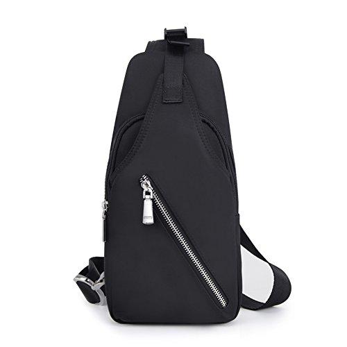 Multi Breast purpose Male Black Messenger Backpack Men's Shoulder Black Canvas Sports Package Bag color Gaoyang qwpTdzxq