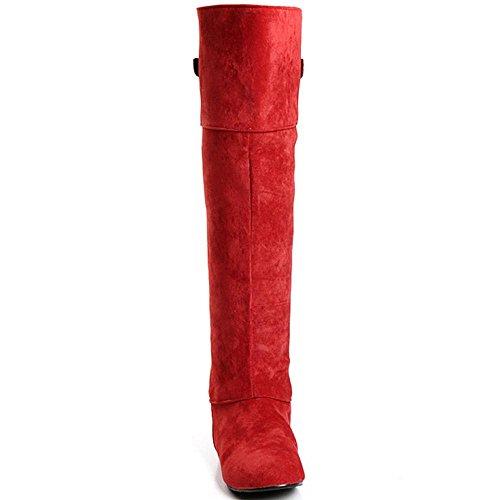 COOLCEPT Botas Hasta la Rodilla para Mujer Red