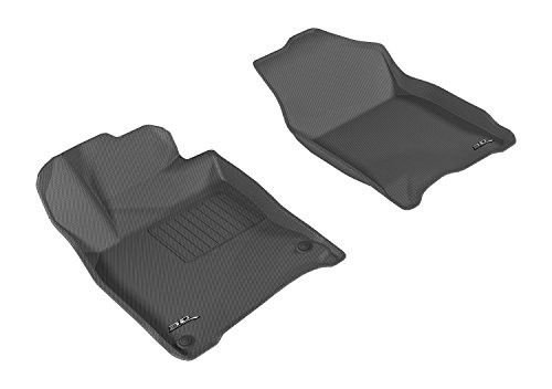 3D MAXpider L1HD07411509 Front Row Custom Fit All-Weather Floor Mat for Select Honda Civic Coupe/Hatchback/Sedan Models - Kagu Rubber (Coupe Mat)