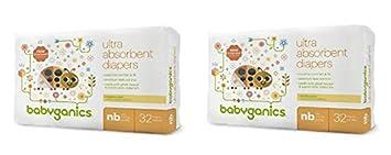 Amazon.com: BabyGanics Ultra absorbentes pañales de bebé, 2 ...