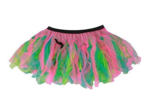 Ladies 12 Festival of Colour Cyber Rave Tutu Burning Man Festival Wear...