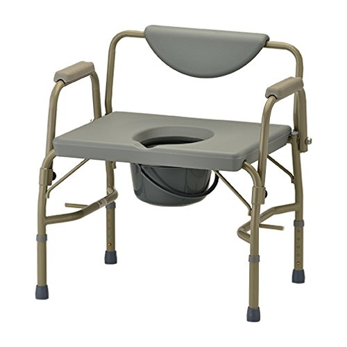 Photo NOVA Heavy Duty Bedside Commode Chair with Drop-Arm (for Easy Transfer) 500 lb. Weight Capacity, Extra Wide Commode Chair