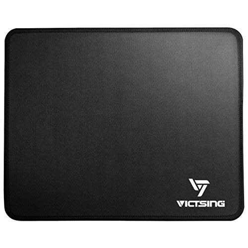 VicTsing Gaming Alfombrilla para Ratón, Mouse Pad 260 × 210 × 2 mm Cojín de Ratón con Bordes Cosidos con Superficie...