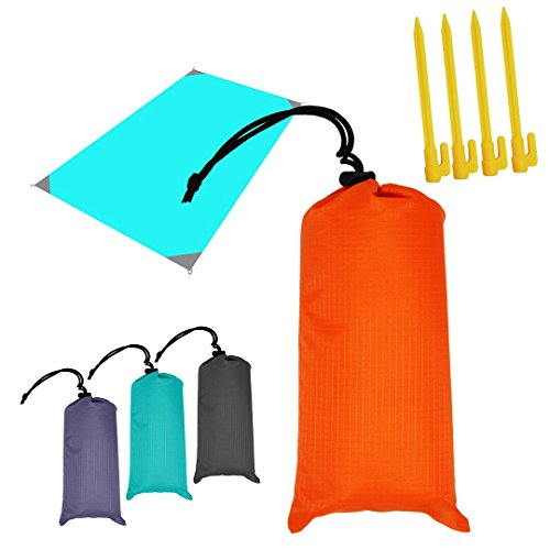 52 Picnic Mat,Portable Water-Resistant Sandproof Damp Proof Handy Outdoor Indoor Pocket Blanket Mat for Picnic Camping Hiking Grass Beach Travelling (Orange)