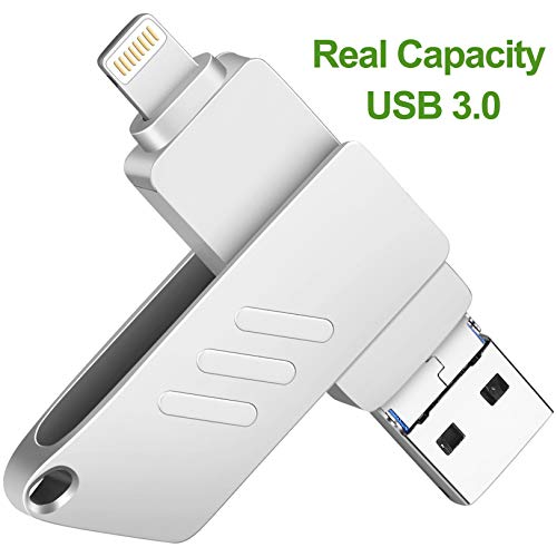 iOS Flash Drive for iPhone Photo Stick 32GB Memory Stick USB 3.0 External Storage Lightning Memory Stick for iPhone iPad Android and Computers
