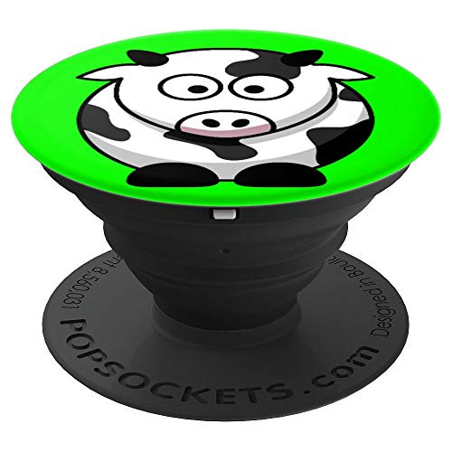 Cow Baby Animal Cute Adorable Cuddly Bovine Design - PopSockets Grip and Stand for Phones and Tablets