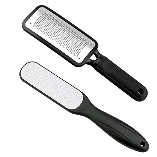 Fairyland 2 PCS Foot File,Colossal Foot Rasp and Dual Sided Foot File Professional Pedicure Rasp Tools Stainless Steel Feet Corn Callus Remover