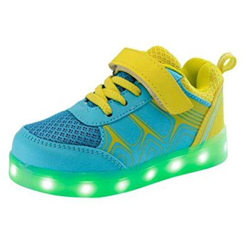 (Present:kleines Handtuch)JUNGLEST® 7 Farbe USB Aufladen LED Leuchtend Sport Schuhe Sportschuhe High Top Sneaker Turnschuhe für Unisex-Erwa c37