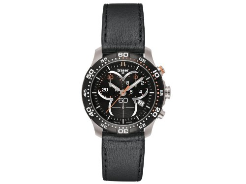 Traser H3 Ladytime Black Chronograph Ladies Watch T7392.QAH.G1A.01 / 100333
