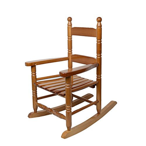 CASUN GARDEN Patio Porch Rocker/Rocking Chair (Natural Laquer Oak)